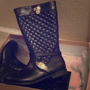MICHAEL Michael Kors Shoes - BRAND NEW- Michael Kors Black Leather Riding Boots